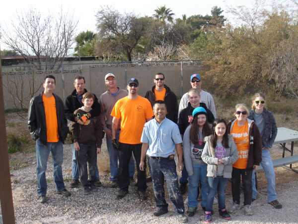 Lowman Elementary Courtyard Community Service Project